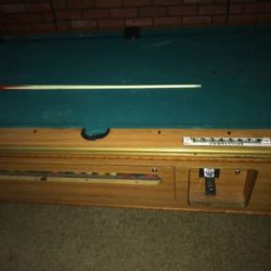 Pool Table Coin-Operated Bar Size