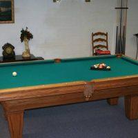 Solid Oak Brunswick pool table  LIKE NEW