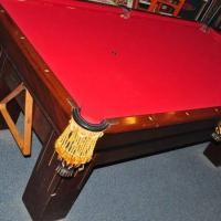Vintage 1910 Brunswick 7 ft.Pool Table