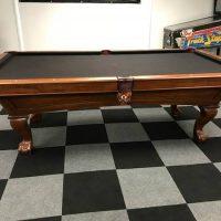 Gorgeous Black Felt Pool Table