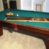Beautiful 4 x 8 Pool Table with Garbarino-Cuneo Italian Slate