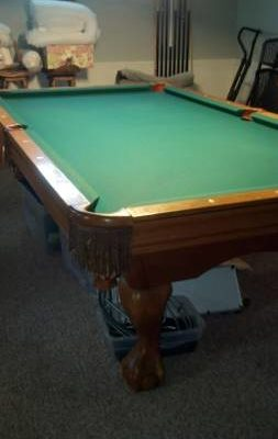 Authentic Brunswick Contender Series Pool Table (SOLD)
