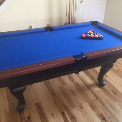 Custom Built 6 Foot Slate Pool Table