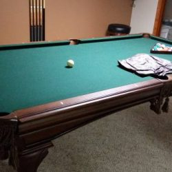 Solid Hardwood Pool Table