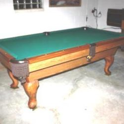 Slate Pool Table w Accessories