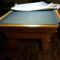 Ole Hausen Pool Table & Cue Rack & Chairs