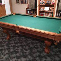 Nice Seldom Pool Table-Green Felt