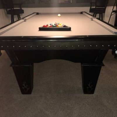 Renegade black pool table with accessories